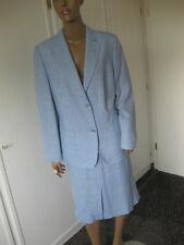 Basler Jeans Kostüm 46 Schurwolle + Leinen