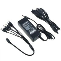 DC 12V 6A Power Supply Adapter +8 Split Power Cable for CCTV Security Camera DVR