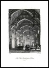 1850 SURREY - Original Antique Print THE HALL BEDDINGTON HOUSE Wallington (14)