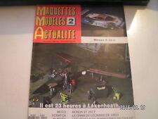 ** MMA Maquettess n°2 F 111 / La Nissan R 89 C / Honda VT 250 F / Dossier Golfe