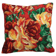 1x Cross Stitch Kit Cushion Cabbage Rose Left Sewing Craft Tool Hobby