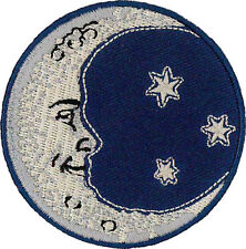"Moon and Stars embroidered Patch 7CM Dia (2-3/4"" Dia)"