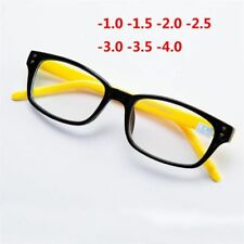 Myopia Glasses Square Plastic Frame Finished Rivets Women Shortsighted Spectacle