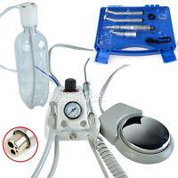 Portable Dental Lab Turbine Compressor 3-way Syringe /Low/High Speed Handpiece