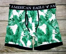 MENS AMERICAN EAGLE  TROPICAL LEAVES REGULAR LENGTH BOXER BRIEF XL (40/42)