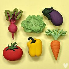 DRESS IT UP Buttons Fresh Produce 9381  -  Vegetables Carrots Pepper Cabbage