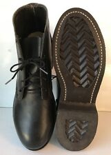 Vtg Biltrite Leather Men's/Boys Combat Biker Riding Motorcycle Chukka Boots S/4R
