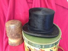 Stetson Vintage Silk top hat Size 7 in wonderful condition.1920's/30's