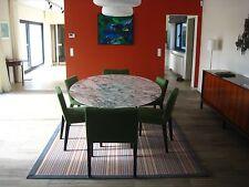 TAVOLO TULIP OVALE 199X121 MARMO ARABESCATO VAGLI SAARINEN TABLE MADE IN ITALY