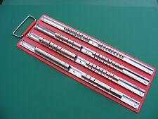 Socket 80pc Storage Rack Vassoio 4 fisso Ferrovia & Clip 1/4 3/8 1/2 Nuovo di Zecca