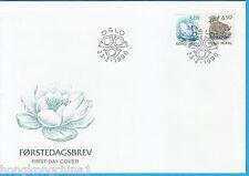 Norway 90 Swan & Beaver stamp Fdc No10489