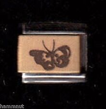 BUTTERFLY GOLD PLATED CENTER ITALIAN CHARM  #GK14