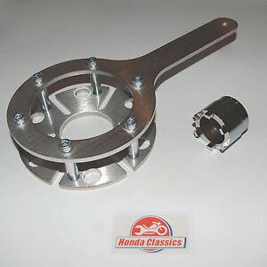 Honda CBX 6-Cylinder Clutch Holding Tool plus Clutch Centre Nut Tool Set. HWT054