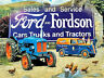 Ford and Fordson tractor large steel sign (ls farmyard)  400mm x 300mm (og)