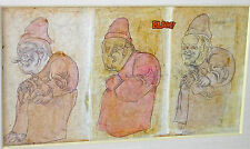 COLLECTION of 14 (13 pre-1970) ORIGINAL Jose Luis CUEVAS WATERCOLORS & DRAWINGS
