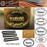 Custom Makers Stamp Logo Leather Embossing Branding Iron Seal / Steel Handle