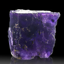 "3.2"" Rich Purple w-Blue Phantoms FLUORITE Sharp Crystals Denton Mine IL for sale"