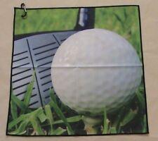 "Digital Print Microfiber Suede Golf Towel 16""x16""- Generic"