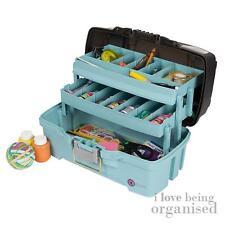 Creative Options Medium Two Tray Craft Box Arts Crafts Hobby Organiser Aqua