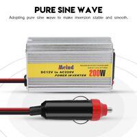 200W Car Power Inverter Pure Sine Wave 12V DC to 220V AC Transmitter Converter