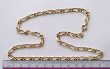"10 x 18"" gold plated complete figaro necklace chains"