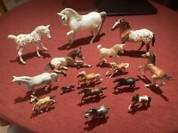 Rare Traditional Vintage Breyer Horse Lot Of 13 plus 2non Breyer Schleich Safari