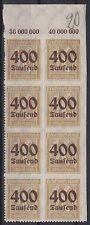 DR Mi Nr. 299 ** POR 8er Block, Infla Ziffer Dt. Reich 1923, postfrisch, MNH