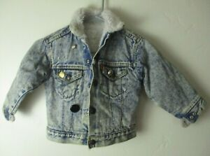 Toddler Vintage Levi's acid wash Sherpa jacket Kids 1980s