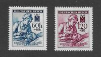 MNH stamp set / Red Cross Nurse & Patient WWII Third Reich Occupation BaM 1942