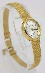Pretty Ladies Aviatime Gold Tone Bracelet Dress Quartz Watch A4