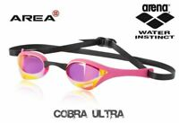 Arena Cobra Ultra Swimming goggles, Pink Mirrored Racing Goggle