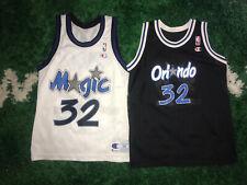 2 - Vtg Champion Shaquille Shaq O'Neal Orlando Magic Jersey NBA 90s Sz 36 Small