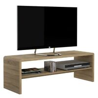 Crescita Wide Coffee Table / TV Unit In Sonama Oak Wooden Modern Stylish Elegant