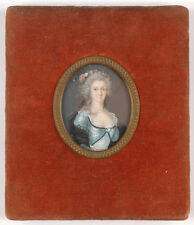"""Portrait of an aristocratic lady"", French miniature, 1780s"