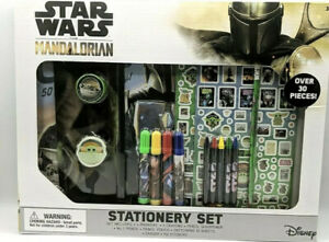 Disney Star Wars The Mandalorian Stationary Set Over 30 Pieces+ 152 Stickers New