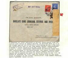 BOIC MEF ERITREA Cover WW2 *Certified Bank Mail* CENSORED 1943 Kenya MS3344
