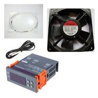Kit Incubadora Termostato Digital + Resistencia de Silicona 45W + Ventilador