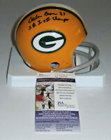 PACKERS Allen Brown signed mini helmet  w/ SB I & II JSA COA AUTO Autographed