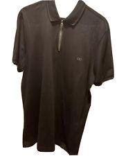 Salvatore Ferragamo Zip Polo Black Xl $300