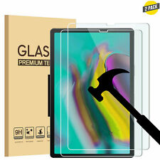 2 Pack Premium Tempered Glass Screen Protector for New Samsung Galaxy Tab Tablet