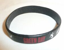 Green Day Band Rubber Bracelet - Lightning Bolts Man - Wrist Rock Black NEW