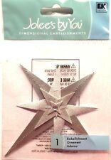 Silver Star Christmas EXTREMELY RARE  Jolee's 3D Stickers