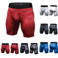 Mens Compression Fitness Shorts Gym Sports Workout Running Short Pants Underwear