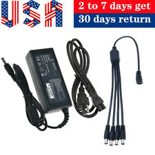 Premium 3Amp Power Adapter Charger with 4 way splitter for Lorex Cameras Mains