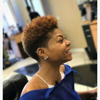 Women Vogue Short Wavy Afro Curly Wigs Fashion Brown Pixie Wig