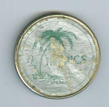 Sticker 1926 Peace Dollar The Tropics, Fresno, California, STICKER on Reverse