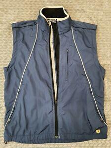 PEARL IZUMI Windbreaker Jacket Vest Bike Cycling Full Zip Breaker Large Blue