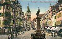 Ansichtskarte Freiburg i. B. Kaiserstrasse mit Martinstor 1914 (Nr.931)