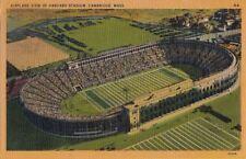 Postcard Airplane View Harvard Stadium Cambridge MA 1946