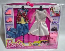 NEW-2015-BARBIE 2 PACK FASHIONS-BOBO-FASHIONISTAS-BACKPACK-BOX PRINT JEANS-VEST